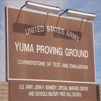 girls scouts place memorial crosses alongside yuma proving